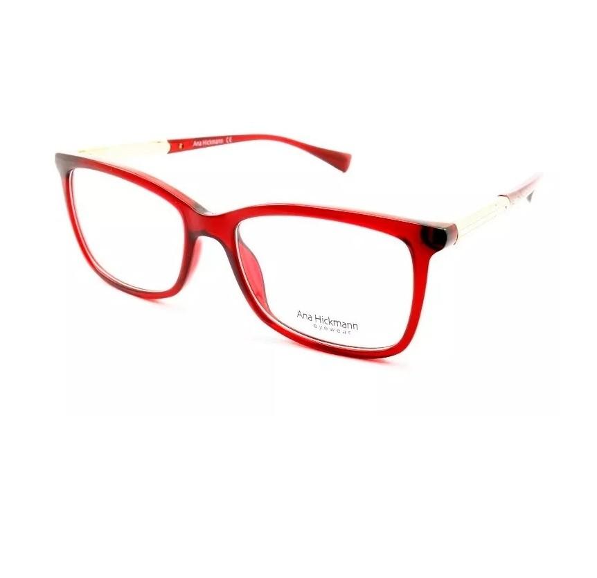 Ana Hickmann AH 6266 T01 Óculos de Grau Feminino Lente  5,3 cm ... d01ddfec7d